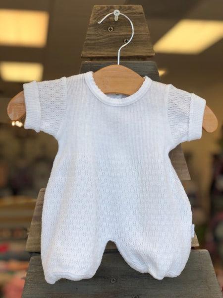Paty Baby White Romper