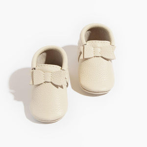 Cream Bow Moccasin