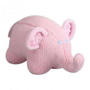 Hand Knit Elephant Rattle