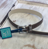 Two Toned Leather Belt