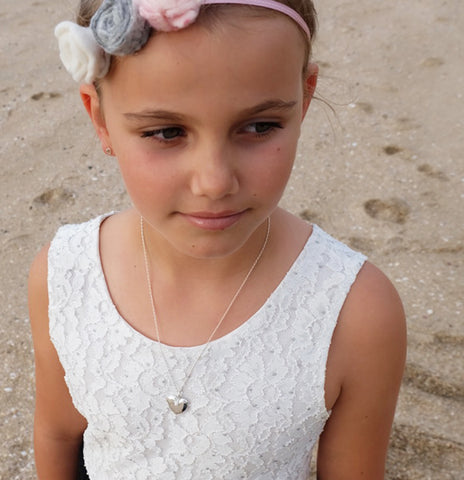 tween wearing kids sterling silver jewellery from o and Bala