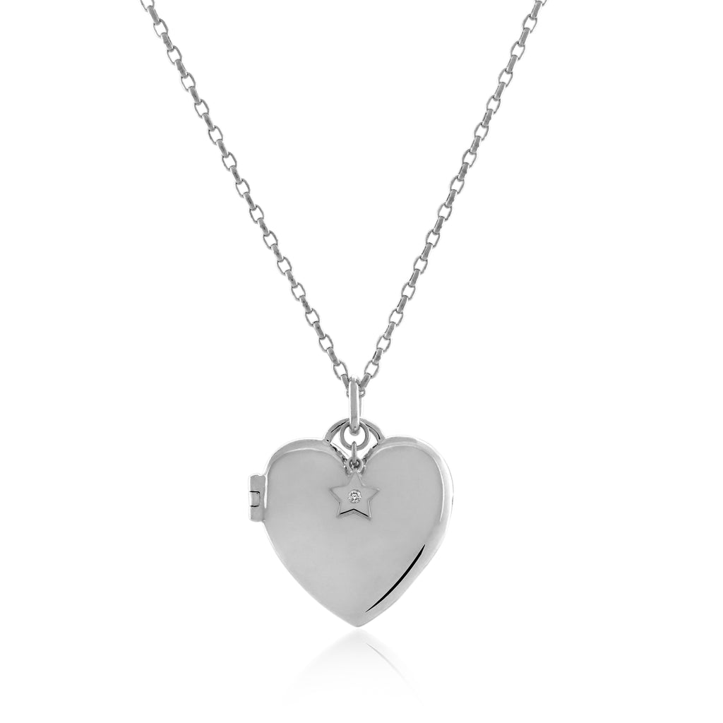 MIA LOCKET NECKLACE - BO + BALA - CHILDRENS SILVER JEWELLERY NZ
