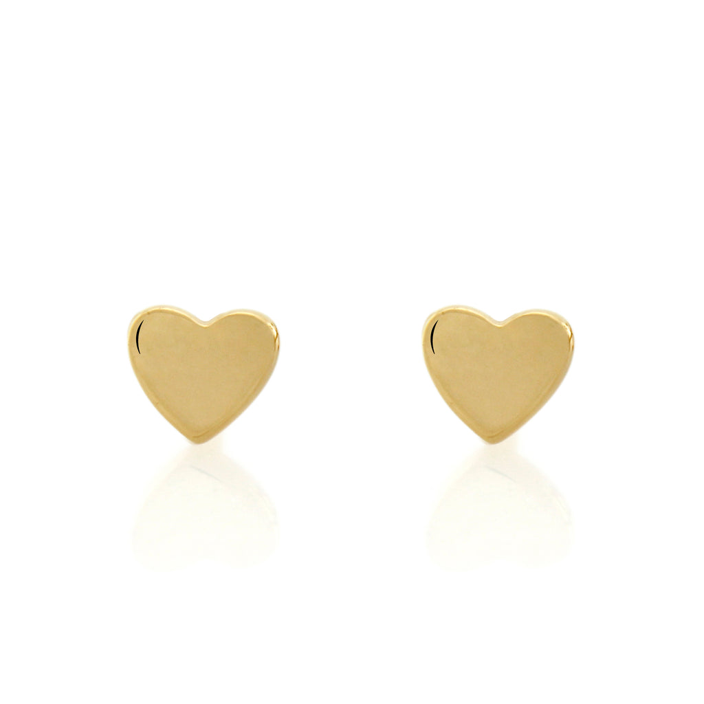 Love Studs - Yellow Gold Vermeil