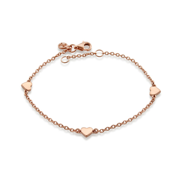 Lots of Love Bracelet - Rose Gold Vermeil