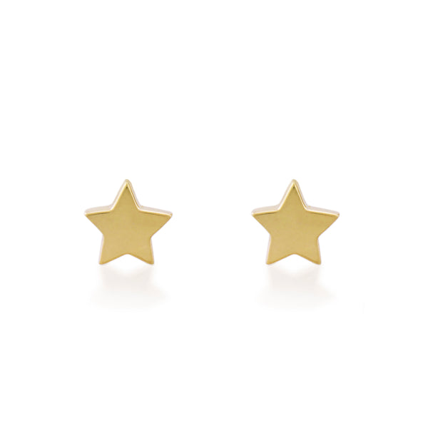 Wish Studs - Yellow Gold
