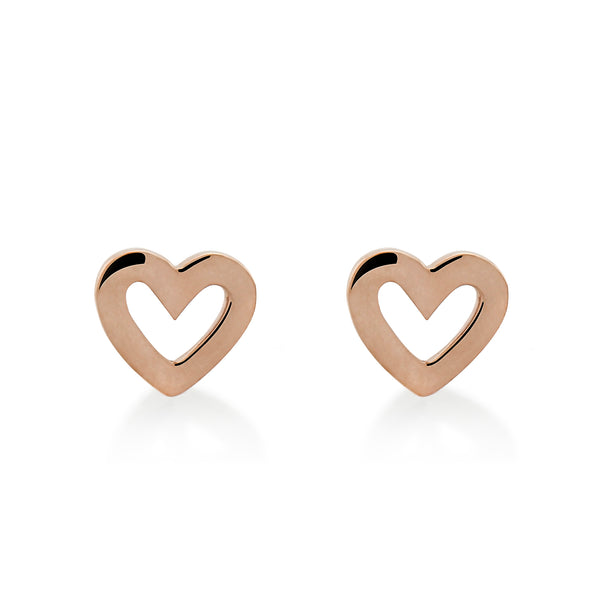 LOVE WISHING STUDS - ROSE GOLD VERMEIL