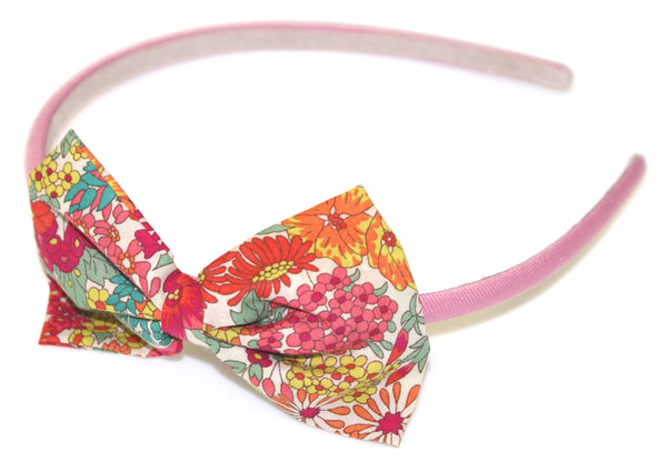 Liberty Fabric Bow Headband - Buy Children's Headbands Online