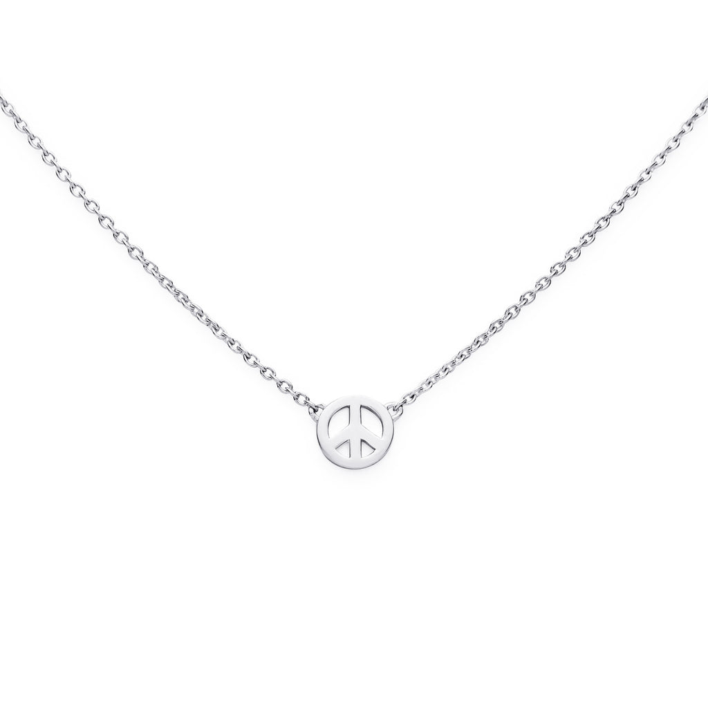 PEACE NECKLACE - BO + BALA - KIDS STERLING SILVER JEWELLERY NZ