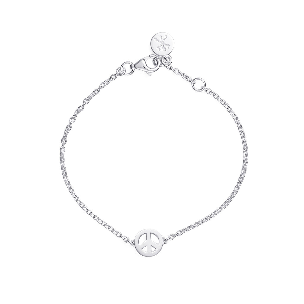 PEACE BRACELET - BO + BALA - KIDS SILVER JEWELLERY NZ