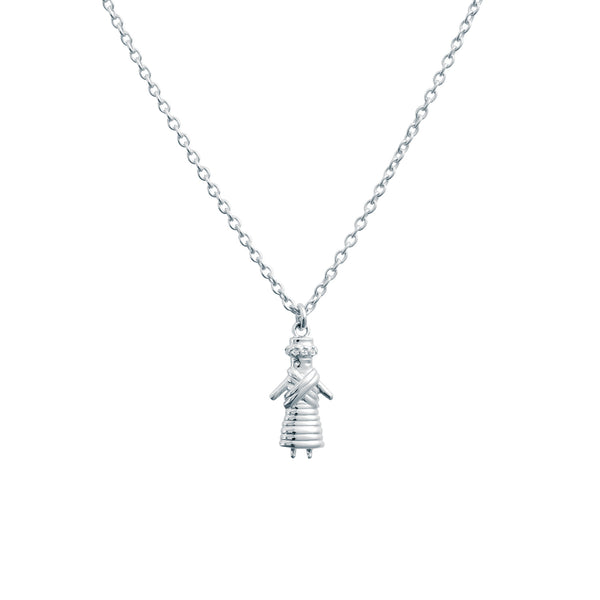 WORRY DOLL NECKLACE - BO + BALA - CHILDRENS SILVER JEWELLERY NZ
