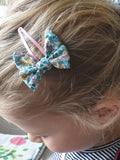 Liberty Fabric Hair Clip with bow (small)