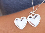 MIA LOCKET NECKLACE OPEN - BO + BALA - CHILDRENS SILVER JEWELLERY NZ