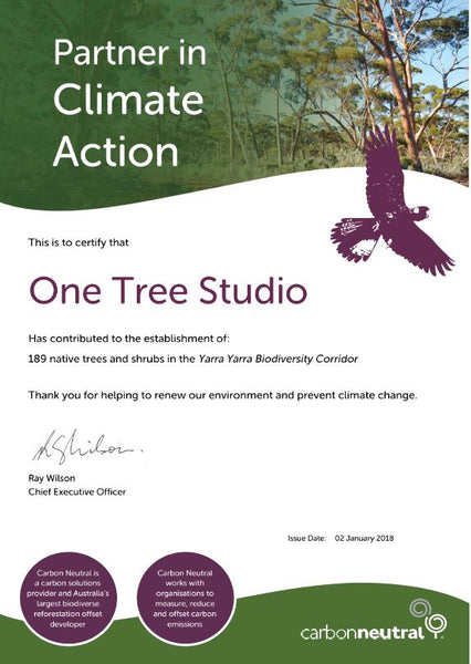 Tree Planting Certificate (Dec 2017)