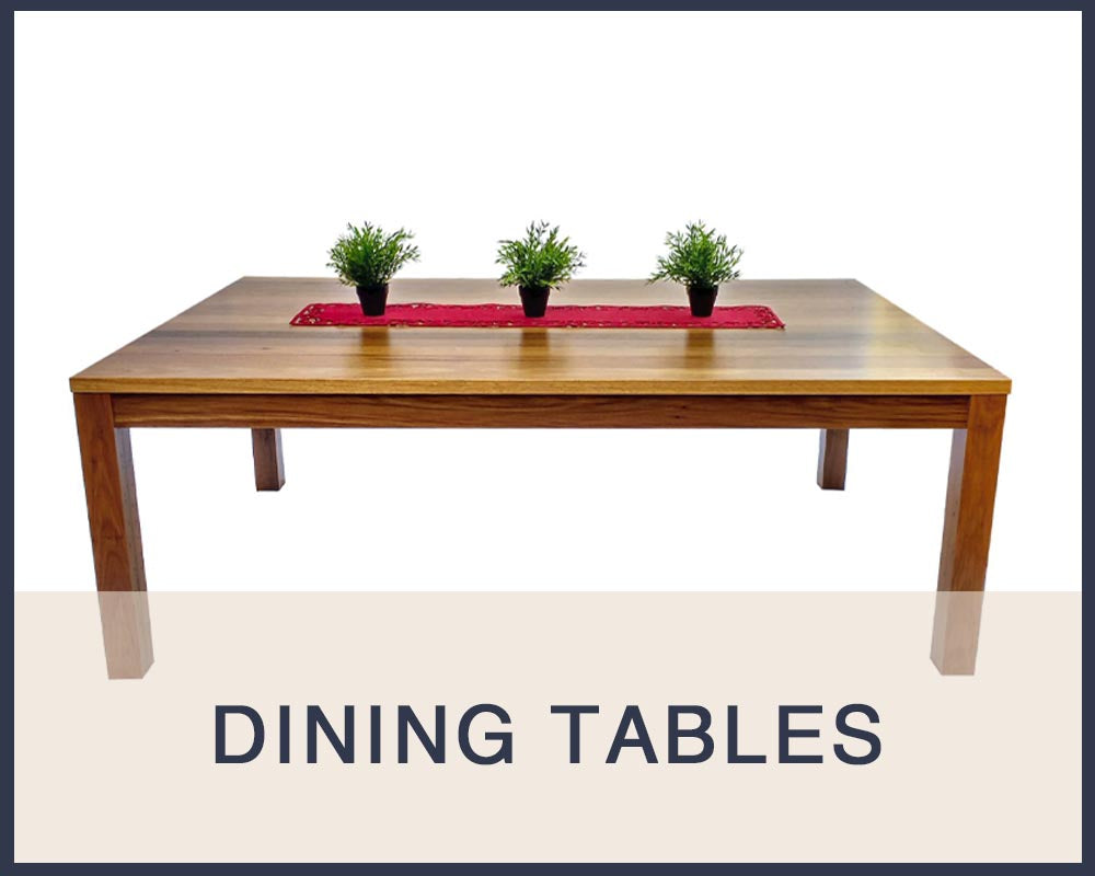 Custom timber dining tables made by One Tree Studio