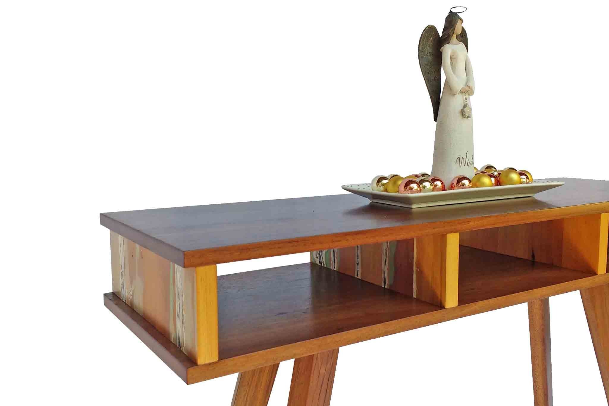 Reclaimed timber hall console table custom made from recycled Australian hardwoods by One Tree Studio