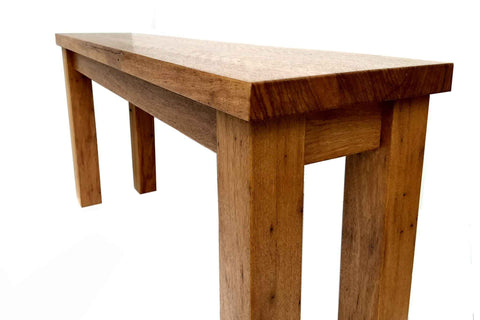 Recycled Timber Bench Seat custom made by One Tree Studio from reclaimed Australian hardwood