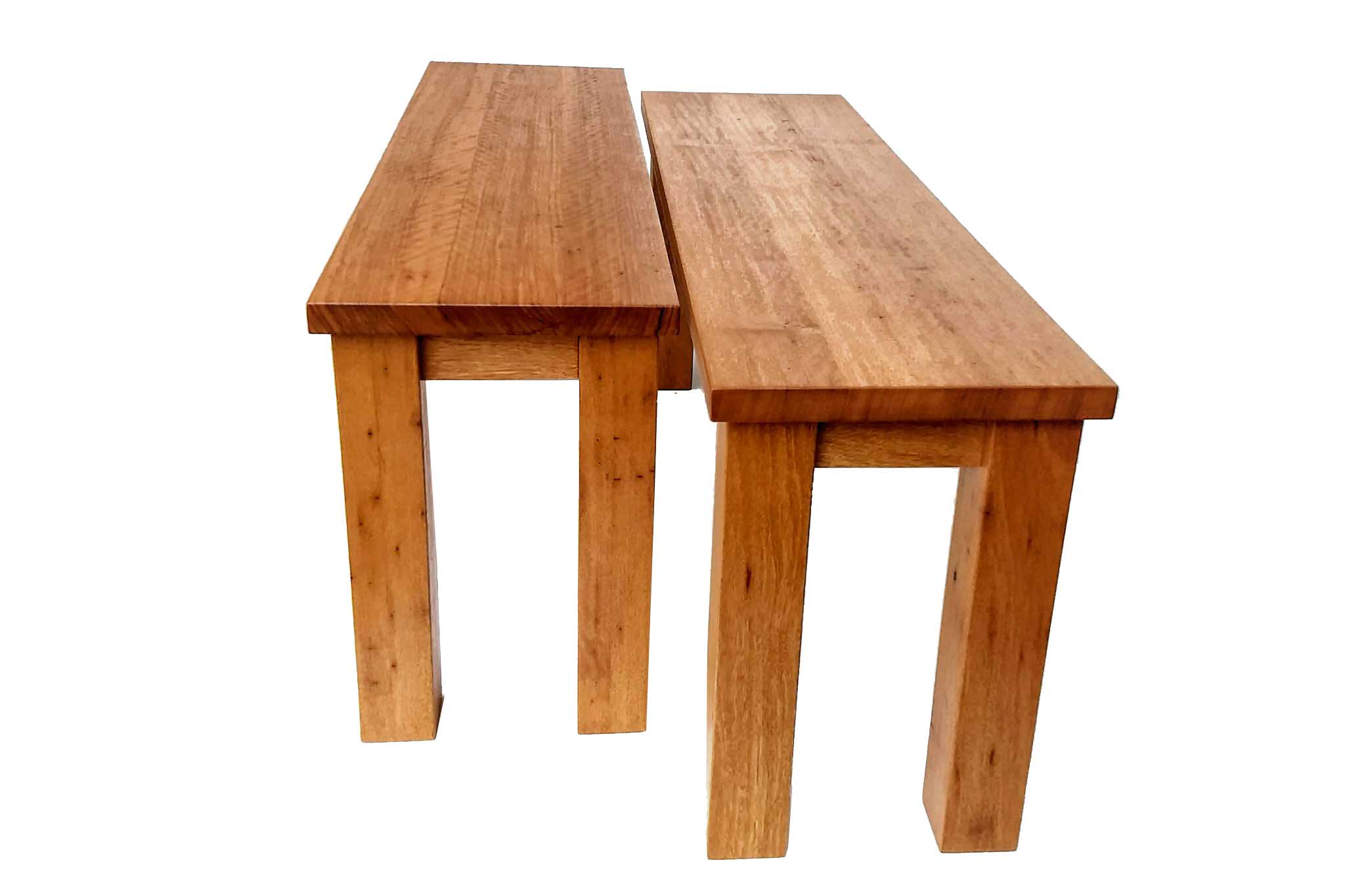 Recycled Timber Bench Seats made from reclaimed Australian hardwood.