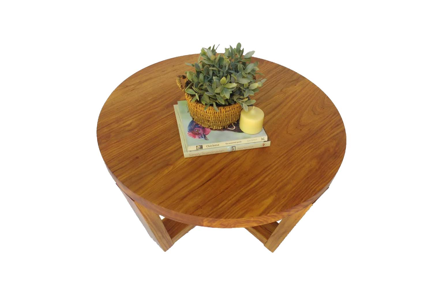 Round coffee table custom made from Rosewood by One Tree Studio