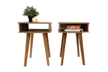 Bedside Table Pair