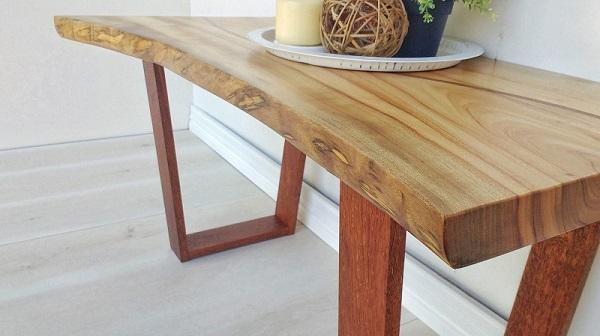 Camphor Laurel Coffee Table with Curved Inlay