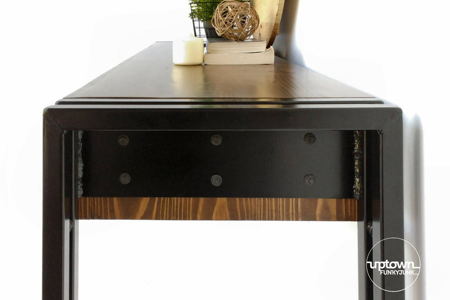 Rustic Industrial Style Hall Console Table