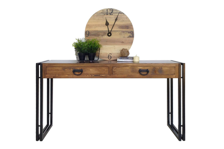 best service 30309 327d1 Rustic Industrial Style Hall Console Table
