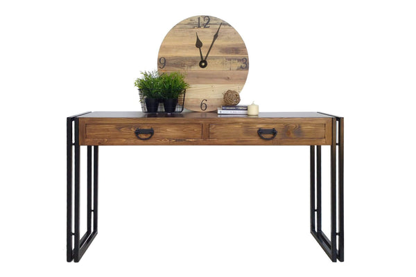 Rustic Industrial Style Hall Console Table One Tree Studio