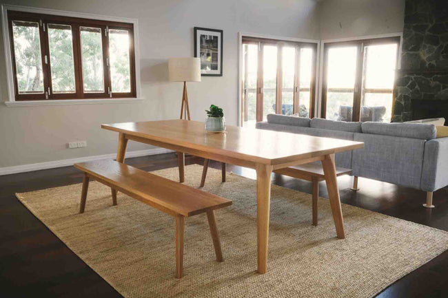 American White Oak Timber Dining Table
