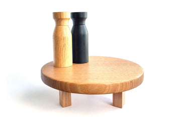 Small Round Footed Server made from sustainably sourced Victorian Ash