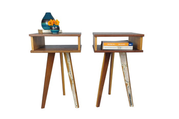 The Worker - Bedside Tables (dark) - Pair