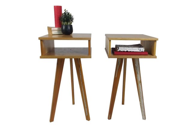 The Worker - Bedside Tables (light) - Pair