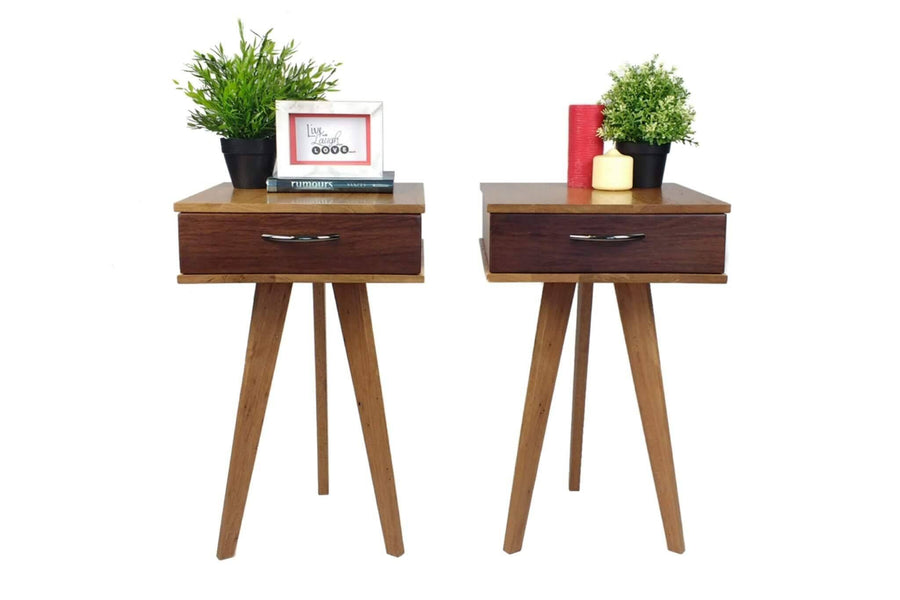 The Worker - Bedside Tables with Drawers - Pair