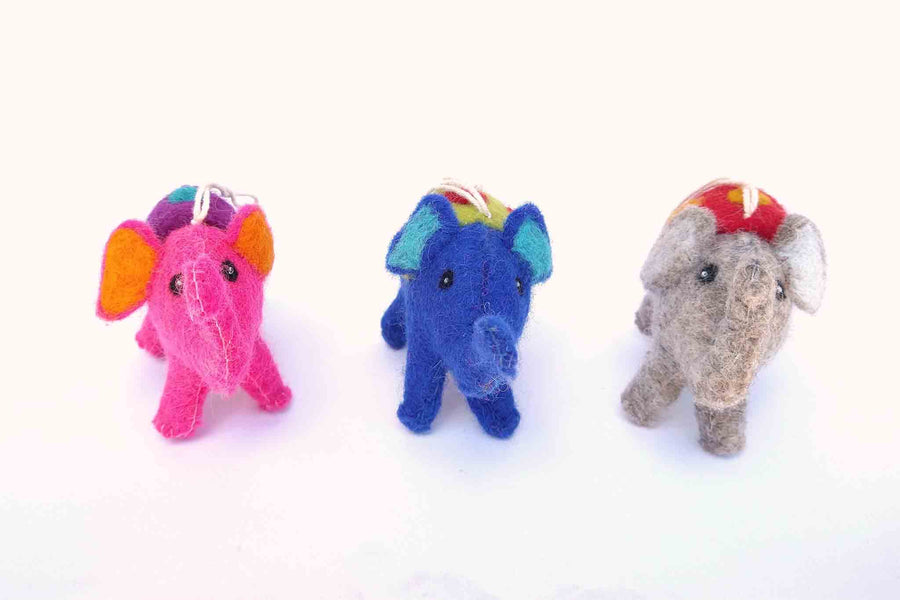 Felt Elephants - Grey