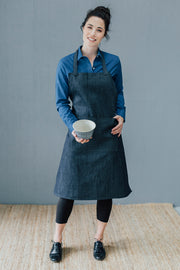 Studio & Worker full apron - Indigo