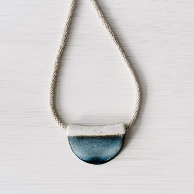 Ink Half Moon Ceramic Necklace By Julia Denes