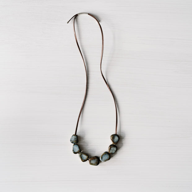 Rough Stone Ceramic Necklace By Julia Denes