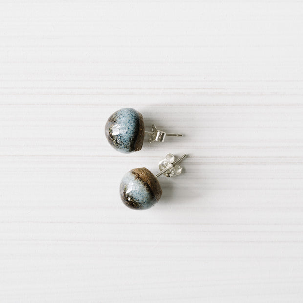 Ink Acorn Ceramic Studs  By Julia Denes