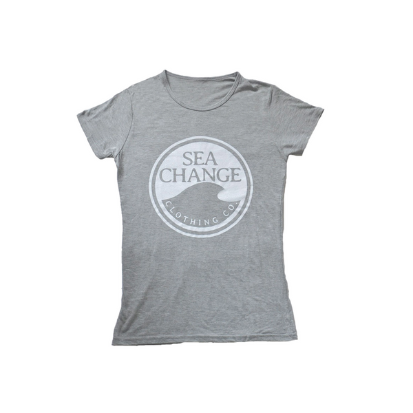 Women's SEA Change Logo Tee Shirt Heather Grey