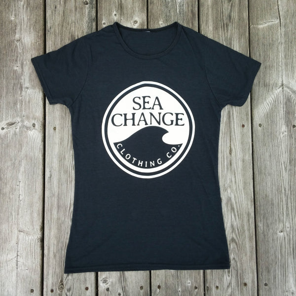 Women's SEA Change Logo Tee Shirt Charcoal