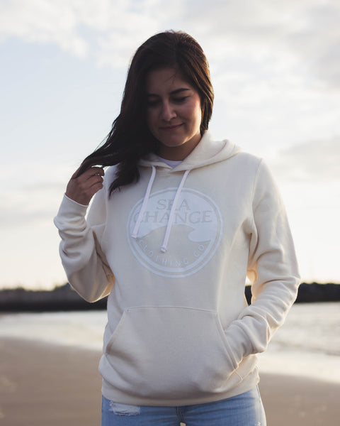 SEA Change Logo Hoodie Natural