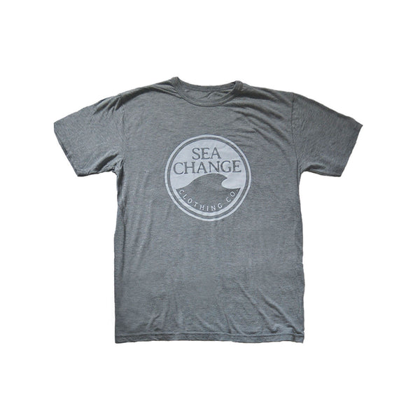 SEA Change Logo Tee Shirt Heather Grey
