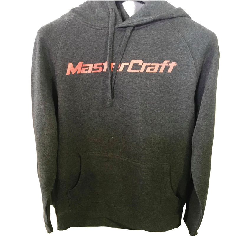 Mastercraft Hoodie {DARK GREY RED TXT}