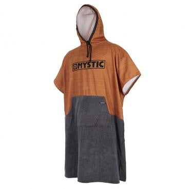 MYSTIC Poncho Seal Brown/Gold O/S