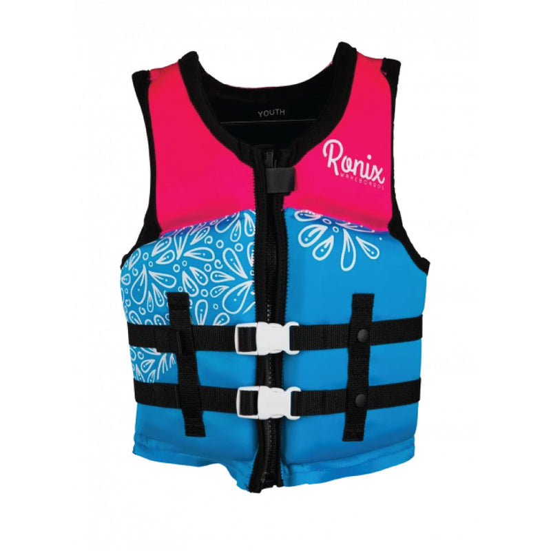 RONIX 2020 August Girl's - CGA Life Vest - Sky Blue / Pink / Purple - Youth (50-90lbs)