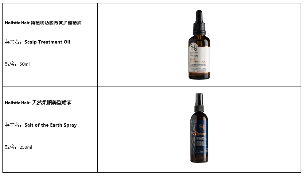 Holistic Hair Products
