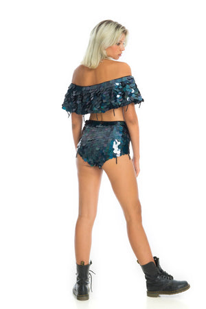 CITY LIGHTS SEQUIN SHORTS | Moonless Sparkle