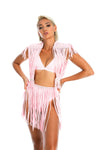 macrame top and skirt, festival fashion