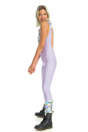 sexy edm rave wear, holographic disco jumpsuit, Coachella fashion | Ladee Taha