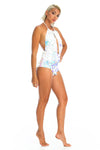 Sexy rave iridescent sequin bodysuit, adjustable halter cheeky cut burning man festival bodysuit