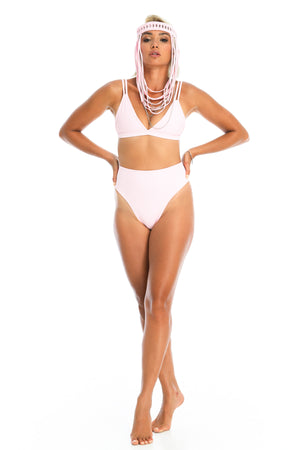 baby pink bikini bottoms, high waisted-festival outfit for raves burning man